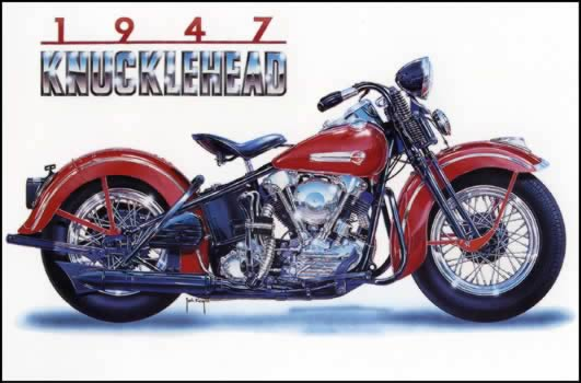 1947 Knucklehead by Jack Knight, Artist