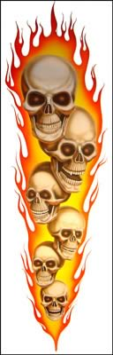 Flaming Skulls by Jack Knight, Artist